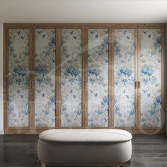 Hinged door wardrobe influenced by traditional floral oriental design.