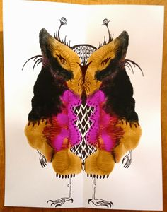 Cynthia Emerlye, Vermont artist and life coach: Therapeutic Art Class: Creating Creatures from Paint Blots