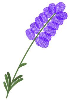 Lavendel aus Fingerabdrücken - Basteln ganz einfach! Basteln mit Fingerabdrücken ist super geeignet zum Basteln mit Kindern. Ob Fingerabdruck Tiere oder andere Motive, alles ist mit dabei. Klicke hier für das große Fingerabdruck ABC mit vielen bunten Bastelideen!
