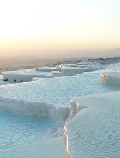 Pamukkale, Turkey      beautiful    want to go there