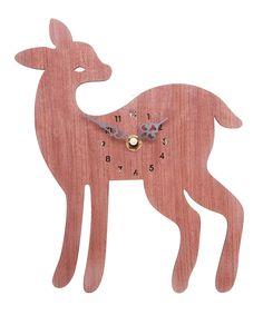 Woodland Fawn Clock