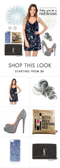 """You're a Firework"" by lookbookstore ❤ liked on Polyvore featuring Christian Louboutin, Sephora Collection, Topshop, Yves Saint Laurent and Tiffany & Co."