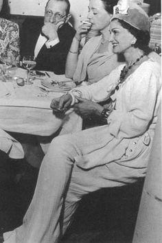 Rare Coco  Chanel smiling!