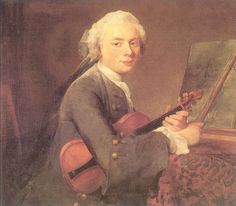 Young Man with a Violin (Portrait of Charles Theodose Godefroy), 1734-1735  Jean-Baptiste-Simeon Chardin