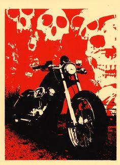 pinterest.com/fra411 #bike #art - Death Machines / Black Sunshine
