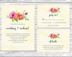 Sweet Floral Watercolor DIY Wedding by AffordableDIYWedding