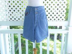 Summer Shorts Denim Shorts Girls Shorts Union Bay by ZasuVintage on Etsy