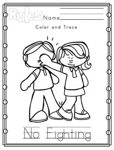 9 Best Images of Classroom Rules Printable Coloring Pages - Preschool Classroom Rules Coloring Pages, Printable Preschool Classroom Rules and School Classroom Coloring Pages Nursery Class Activities, Kindergarten Classroom Rules, Manners Preschool, Preschool Classroom Rules, Color Worksheets For Preschool, Kindergarten Coloring Pages, Kindergarten Colors, School Coloring Pages, Preschool Colors