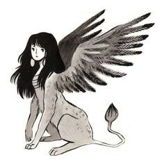 Inktober day requested a sphinx, here it is! Character Inspiration, Character Art, Character Design, Fantasy Creatures, Mythical Creatures, Mythological Creatures, Sphinx Mythology, Sphinx Tattoo, Humanoid Creatures