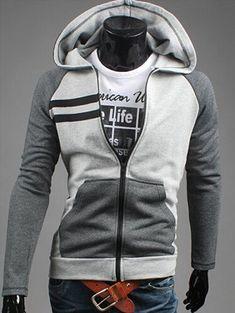 Zip Up Raglan Sleeve Insert Hoodie