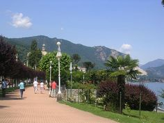 Stresa, Italy - A park along Lake Maggiore--My sister's and I had the best time in this Italian town on a lake.