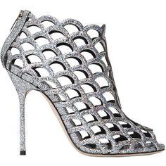 8d3fa341ebae Sergio Rossi Women 105mm Mermaid Leather Cage Sandals ( 1
