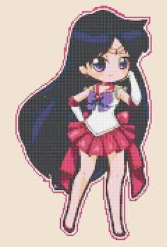 Chibi Sailor Mars  pdf cross stitch pattern by PDFanimeCrossStitch, $4.00