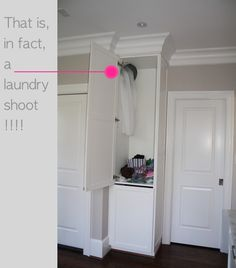 Is a laundry shoot in the plans for your next remodel? It could be!