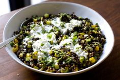lentils with burrata