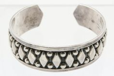 .925 Sterling Silver Vintage Taxco Mexican Chunky Cuff Bracelet (35.8g) #Unbranded #Unavailable