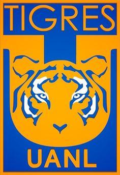 Escudo de Tigres de la U.A.N.L. (2016) sin estrellas