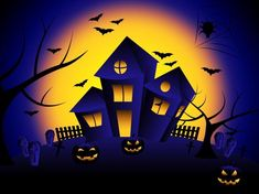 Haunted house showing trick or treat and happy halloween Stock Illustration , Halloween Cartoons, Halloween Clipart, Halloween House, Happy Halloween, Safety Tips, Trick Or Treat, Free Stock Photos, Clip Art, Treats