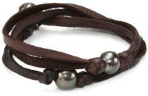 Cohen Hand made Designs 2 Wrap with 3 Tahitian Black Pearls on Brown Leather Bracelet Bracelets For Men, Pearl Bracelets, Hand Accessories, Tahitian Black Pearls, Freshwater Pearl Bracelet, Brown Leather, Life Band, Men's Jewellery, Jewelry