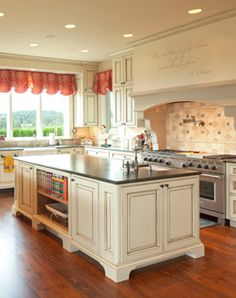 Kitchen, Two Islands, Wood Floors, French Country: Avgerakis Collaborate + Design + Build: Joe Karman Architecture