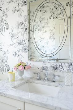 Photo Album Website  inspirations for marble and wallpaper bathroom designs Have I mentioned that we have had