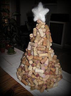 Cork Christmas Tree by Phizzychick!, via Flickr