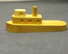 Velero de juguete de madera por EstellaGraham en Etsy