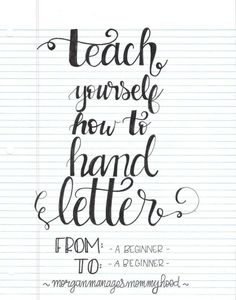 Have you ever wondered how to hand letter? Ever tried to teach yourself, but then got overwhelmed by perfect instructions and perfect…