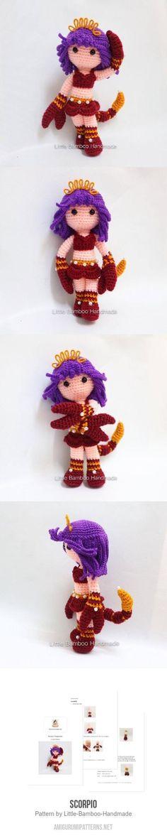 Scorpio amigurumi pattern Amigurumi Doll, Amigurumi Patterns, Crochet Patterns, Crochet Dolls, Knit Crochet, Adult Crafts, Crochet For Kids, Crochet Animals, Fiber Art