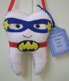 Tooth Fairy Pillow RED Super Hero Handmade | eBay