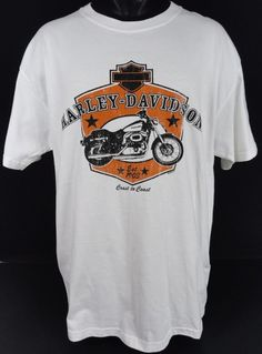NWOT Harley-Davidson Mens L T-Shirt Coast to Coast Logo 2006 SS Cotton Crew Neck #HarleyDavidson #GraphicTee