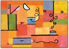 Orange Abstract Postcard by SmartPractice