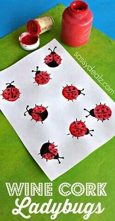 cork ladybug craft