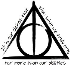 Michelle Chiarappa -- Deathly Hallows Symbol -- her own creation - Deathly Hallows Symbol by ditchhthelogical on Flickr