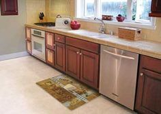 Decorative Kitchen Floor Mats!  Ideal Uses: Kitchen Sinks, Kitchen Islands, Laundry Rooms, and Utility Sinks.