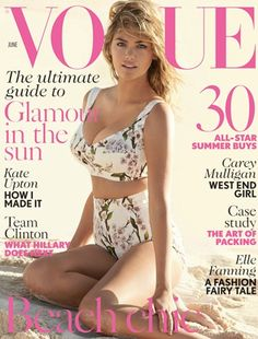 Kate Upton Heralds Summer On June's 2014 Cover - Vogue UK     I need that Dolce & Gabbana bathing suit