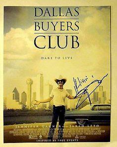 Matthew Mcconaughey Autographed Signed Dallas Buyers Club 11X14 Poster Photo COA