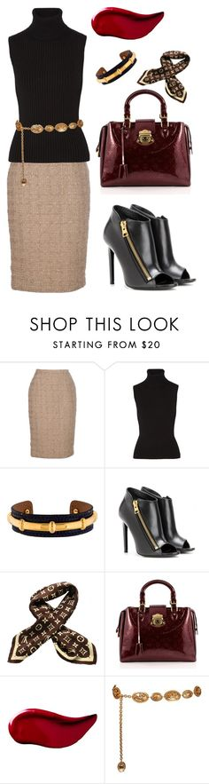 """""""Untitled #1411"""" by christawallace on Polyvore featuring Guy Laroche, Michael Kors, Hermès, Tom Ford, Louis Vuitton, Kat Von D and Chanel"""