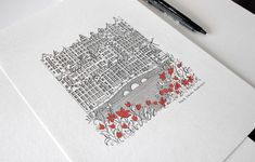Architecture is the Protagonist in These Intricate Illustrations,© Marta Vilarinho de Freitas