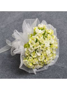 Tulle Wrapped Clover/Green Rose Wedding Flower for Wedding Party MS30XI861