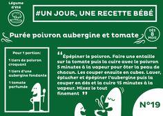 #recette #bébé du jour #19 : Petite purée de Poivron, Aubergine et Tomate