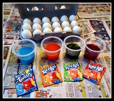 How to dye Easter eggs with Kool-Aid #DIY #Easter