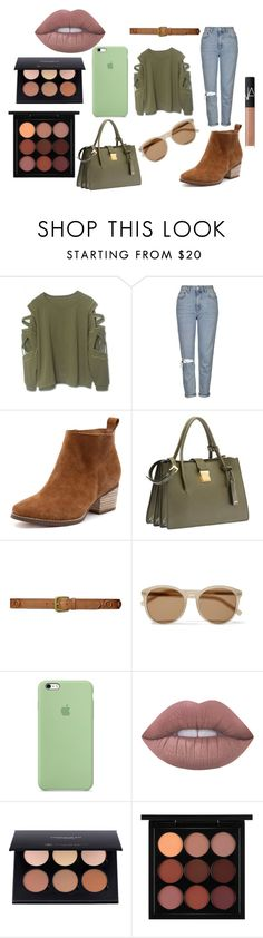 """Untitled #2"" by mirela-r13 on Polyvore featuring Topshop, Miu Miu, Lauren Ralph Lauren, Yves Saint Laurent, Lime Crime, MAC Cosmetics and NARS Cosmetics"