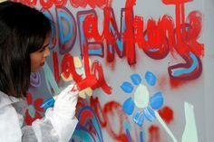 El lunes 4 de Febrero, junto con BOAMISTURA y CRIS contra el cáncer, colaboré en el mural participativo del Hospital Doce de Octubre :)