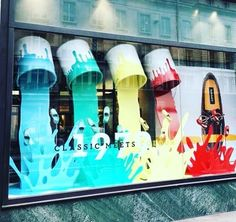 Want to attract new customers? Make a splash this new year with a bold and colourful #Cast #Acrylic window display, and create a work of art that's sure to turn heads! #CreativelyInspired #WindowDisplay #POS