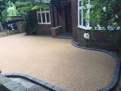 Resin drives give you total flexibility with shape, texture, pattern and colour. Make your drive a statement and give your home instant kerb appeal. Imprinted Concrete Driveway, Resin Driveway, Resin Patio, Driveway Paving, Driveway Design, Garden Paving, Concrete Driveways, Driveway Gate, Garden Planters