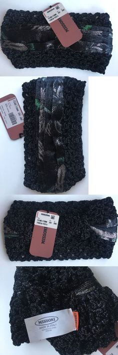 Hair Accessories 45220: Nwt Gorgeous Missoni Black Knit Beach Turban Headband 1 Sz Made In Italy -> BUY IT NOW ONLY: $90 on eBay!