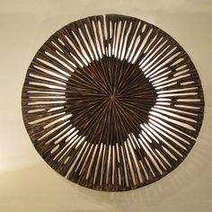 pieter adam le soleil wall lamp a natural shape made of bronze