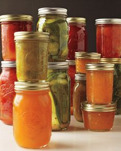 Summer, preserved :) canning recipes & tips: pickles, sauces, jams & more... Lord knows canning is the smart route these days