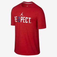 "JORDAN ""RE2PECT"" [DEREK JETER] MEN'S T-SHIRT [SIZE 2XL] 708586-648 VARSITY RED  #jordan #GraphicTee"